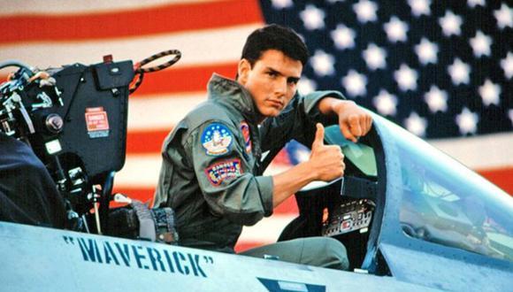 """En 1986 el actor intepretó al pilto 'Maverick' y 33 años después, se anunció la secuela de """"Top Gun"""", presuntamente, para estrenarse este 2019. (Foto: Paramount Picture)"""