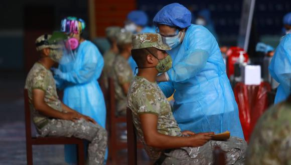 Aún falta vacunar a 10 mil militares de la selva y sur del país. Este proceso se detuvo por las Elecciones Generales 2020 (FOTO: Jessica Vicente)