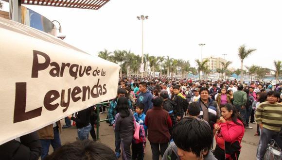 Se espera gran concurrencia de público al Parque de Las Leyendas en Semana Santa. (GEC)