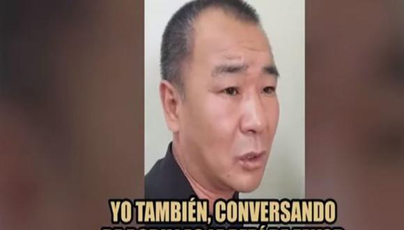 Xiang, quien fue detenido por agentes de Serenazgo y la Policía, posteriormente fue trasladado a la comisaría de Maranga. (Panamericana)