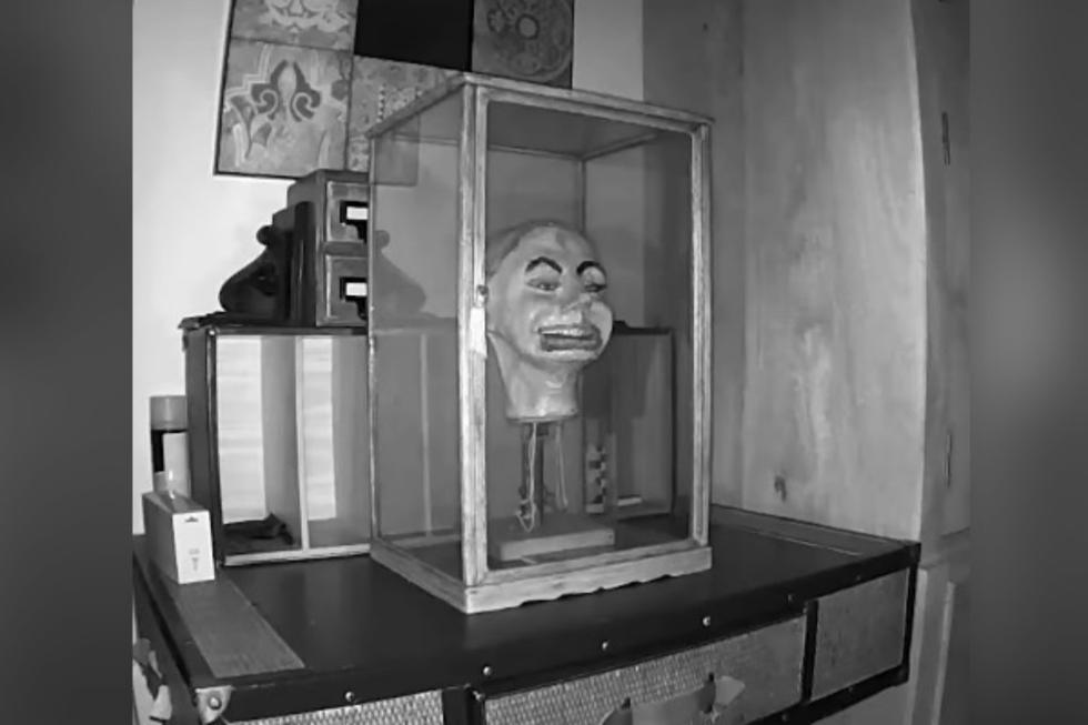 Michael Diamond, de Liverpool, notó que la puerta de la vitrina donde se encontraba situado el muñeco se abría por la noche, por lo que instaló una cámara para grabar lo que sucedía durante la noche. (Foto: Captura)