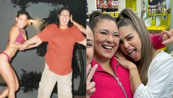 """Mónica Torres y Vanessa Jerí trabajaron juntas en la serie """"Mil oficios"""" de 2001. (Foto: @motorresg)."""
