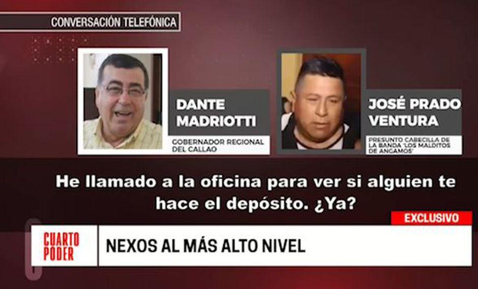 Dante Mandriotti habría mantenido comunicación con José Prado Ventura, sindicado como cabecilla de la banda 'Los malditos de Angamos'. (Cuarto Poder)