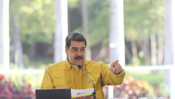 """Nicolás Maduro considera que Perú """"será por siempre símbolo de unión, patriotismo y libertad"""". (Foto: Venezuelan Presidency / AFP)"""