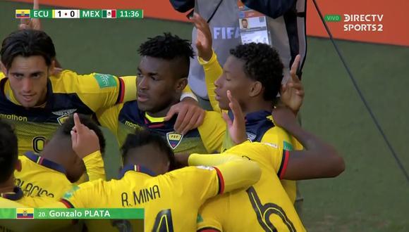 Gonzalo Plata rompió el cero en el Ecuador vs. México. (Captura y video: DirecTV Sports)