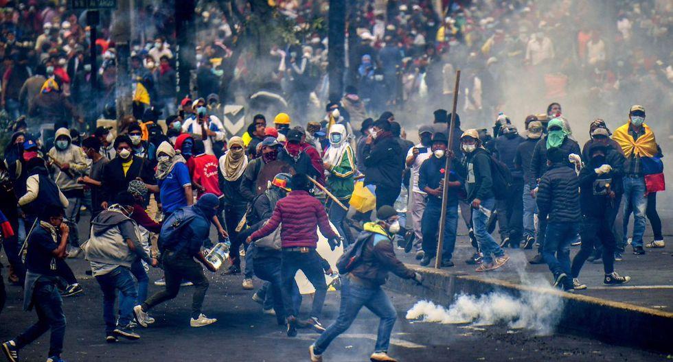 Nuevos disturbios en Ecuador por protestas indígenas contra ajustes económicos. (Foto: AFP)