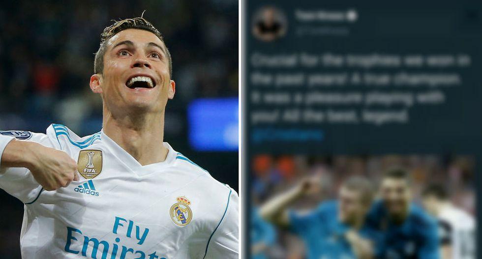 Toni Kross le dedicó un mensaje de despedida a Cristiano Ronaldo. (AP / Captura)