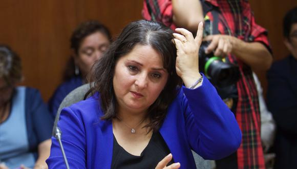Tamar Arimborgo y su férrea denfesaen de su cuestionado proyecto de ley sobre enfoque de género. (GEC)