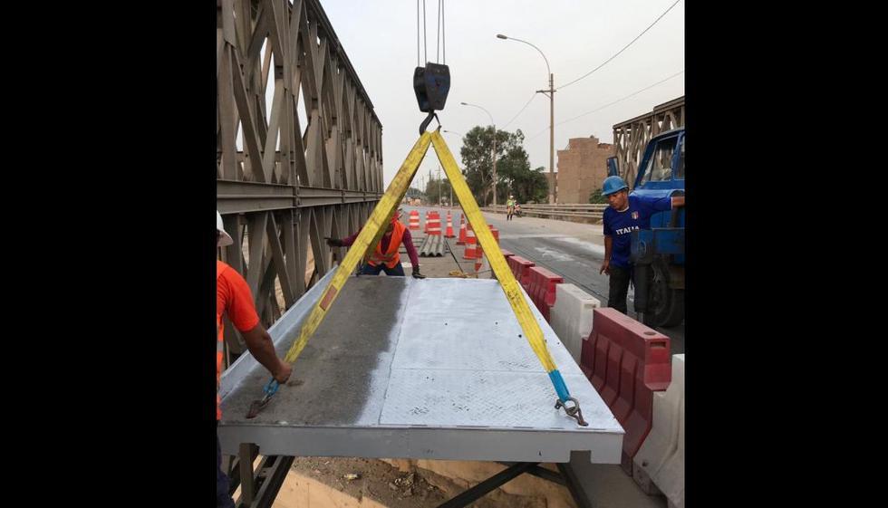 Municipalidad de Lima (MML) culminó los trabajos en el puente 'bailey' ubicado en el kilómetro 9 de la autopista Ramiro Prialé, en Santa María de Huachipa (Fotos: Difusión)