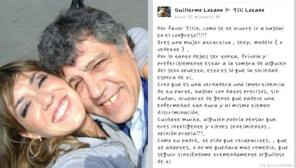 Padre de Tilsa está orgulloso de ella. (Twitter Tilsa Lozano)
