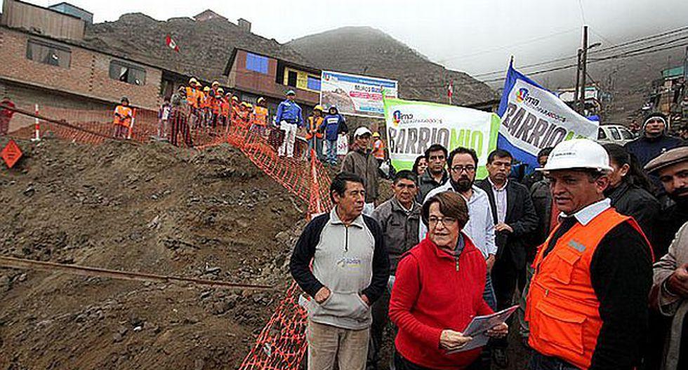 A través de Barrio Mío se han construido 1,200 pasajes - escaleras y 800 muros de contención. (Municipalidad de Lima)