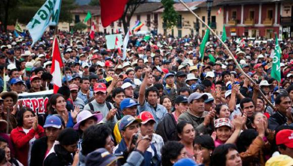 LAS CONSECUENCIAS. Las marchas antimineras han ocasionado la caída económica de Cajamarca. (USI)