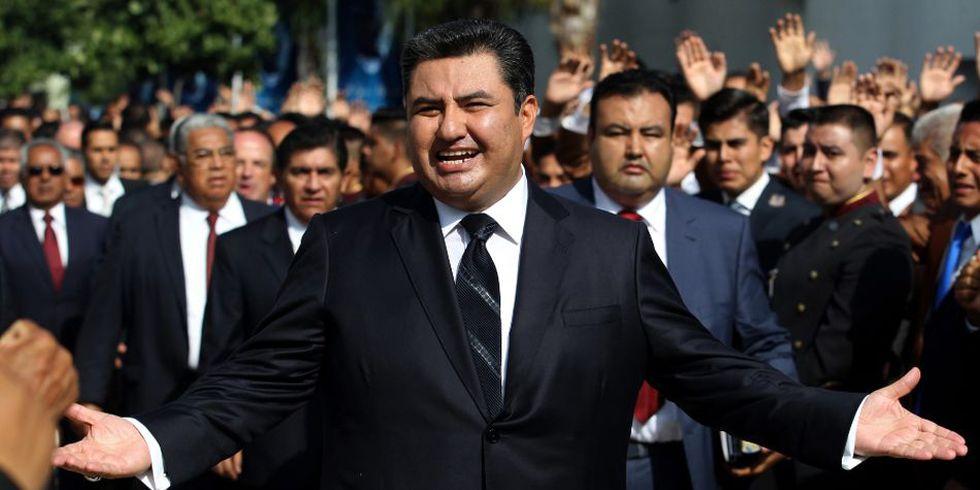 Naasón Joaquín García fue acusado de diversos delitos como líder de La Luz del Mundo. (Foto: AFP)