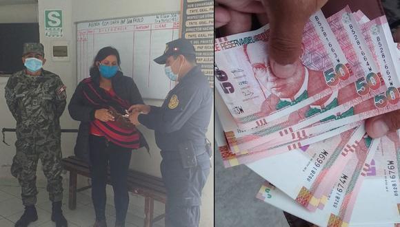 Cajamarca: militar honrado devuelve billetera con 1000 soles a madre de familia. (Foto: Ministerio de Defensa)