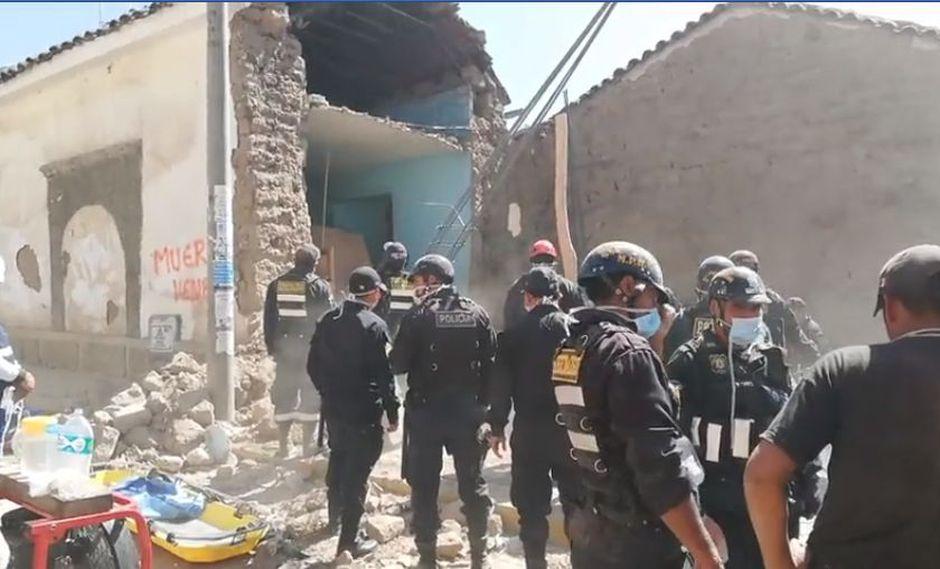 Uno de los obreros fue rescatado con vida y trasladado al hospital regional de Ayacucho (Captura: Facebook:Ensartes)