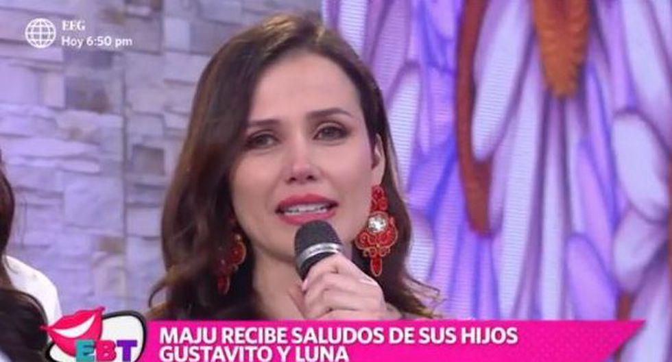 Maju Mantilla cumplió años y se quebró en televisión. (Captura de TV)