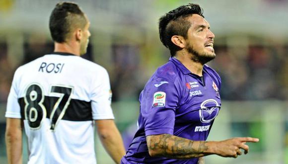 FELICIDAD. El 'Loco' juega su quinta temporada en Florencia. (EFE)
