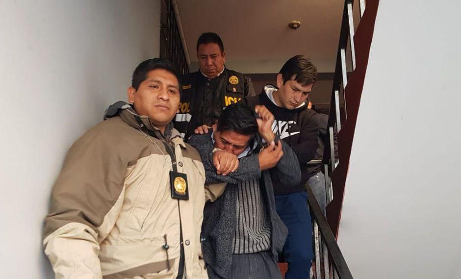 La Policía capturó este lunes al taxista, quien niega haber secuestrado y ultrajado al menor. (Foto: Lino Mamani)
