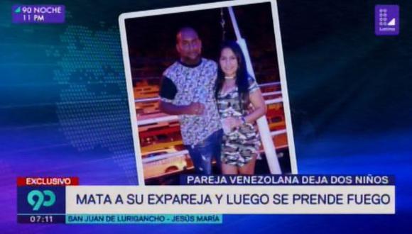 Latina informó que Luis Edgardo Perea Mosquera llevó a la madre de sus dos hijos, identificada como Katherine Pinto Oviedo, hasta el hospedaje. Allí la habría estrangulado y horas después huyó.