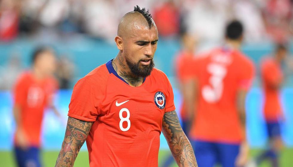 Arturo Vidal estuvo los noventa minutos en el Perú vs. Chile. (AFP)