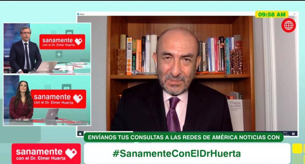 El doctor Elmer Huerta se pronunció sobre la interrupción de AstraZeneca en ensayos de su potencial vacuna contra el coronavirus. (Captura de video/AméricaTV).