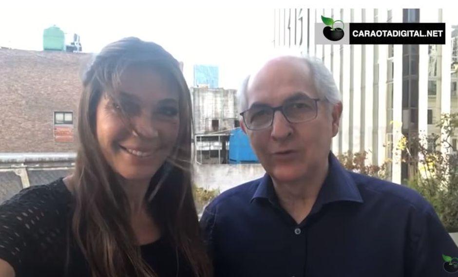"""""""Aquí estamos en Buenos Aires cumpliendo la gira prometida por sudamérica, hemos estado en Chile y luego a Perú y ahora estamos en Argentina y en un intenso trabajo"""", acotó Ledezma, uno de los principales líderes de la oposición venezolana."""