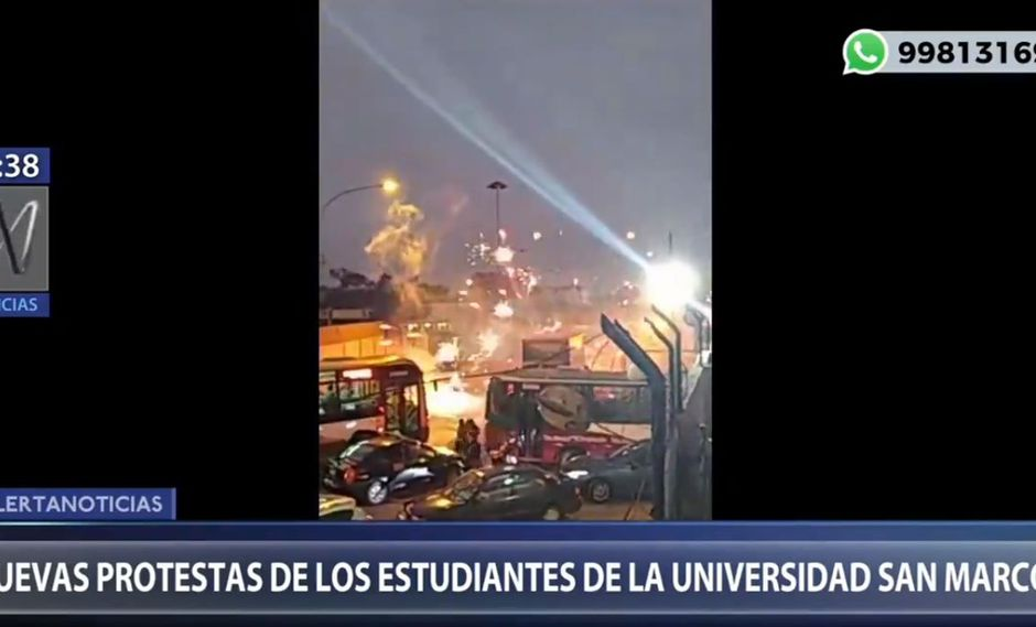 En los alrededores de la Universidad San Marcos se originó una gran congestión vehicular. (Canal N)