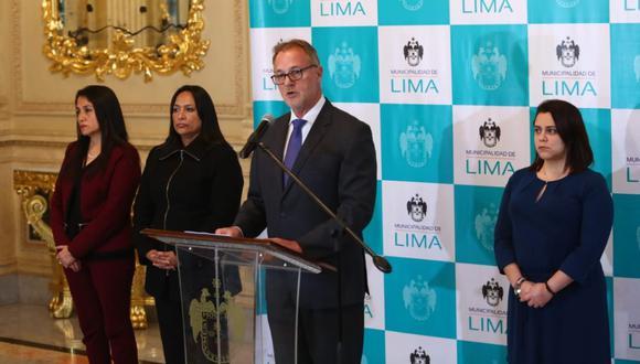 Jorge Muñoz brindó una conferencia de prensa para dar a conocer los resultados de las negociaciones con empresas administradoras de los peajes. (GEC)