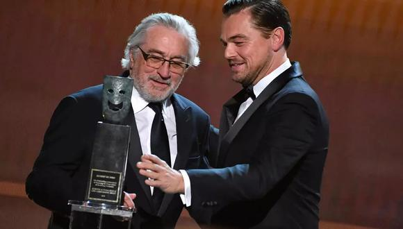 DiCaprio y De Niro piden dinero para la COVID-19 a cambio de aparecer en su película. (Foto: AFP)