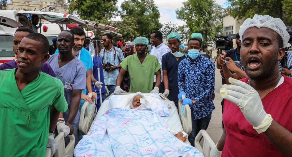 Entre los 79 muertos figuran 16 estudiantes de la universidad privada de Banadir. (Foto: AFP)