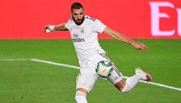 Karim Benzema anotó un golazo para el 3-0 sobre Valencia. (Foto: AFP)