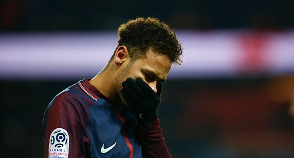 Neymar tiene una lesión y estaría de baja por tres meses. (Getty Images)