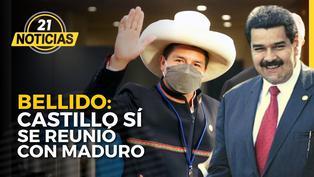 Bellido revela que Castillo sí se reunió con Maduro