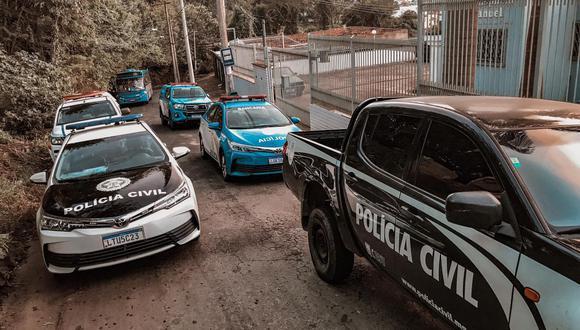 Patrullas de la Policía Civil durante un operativo en Río de Janeiro. (Foto: Twitter | Policía Civil RJ)
