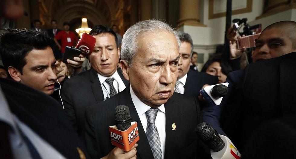 El ex fiscal de la Nación Pedro Chávarry ha negado haber tenido conocimiento que se había ingresado a una oficina lacrada por José Domingo Pérez. (Foto: GEC)
