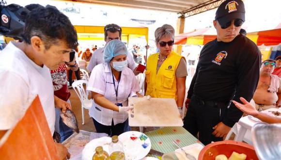 Señalaron que la visita se realizó para verificar las condiciones sanitarias en que funcionaban los establecimientos. (Difusión)