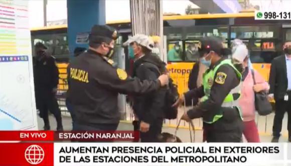 Estaciones del Metropolitano tendrá mayor presencia policial desde este jueves 23. Foto: América Noticias
