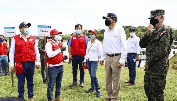 Martín Vizcarra participó en diversas actividades en la localidad de Tamshiyacu. (Foto: Presidencia)