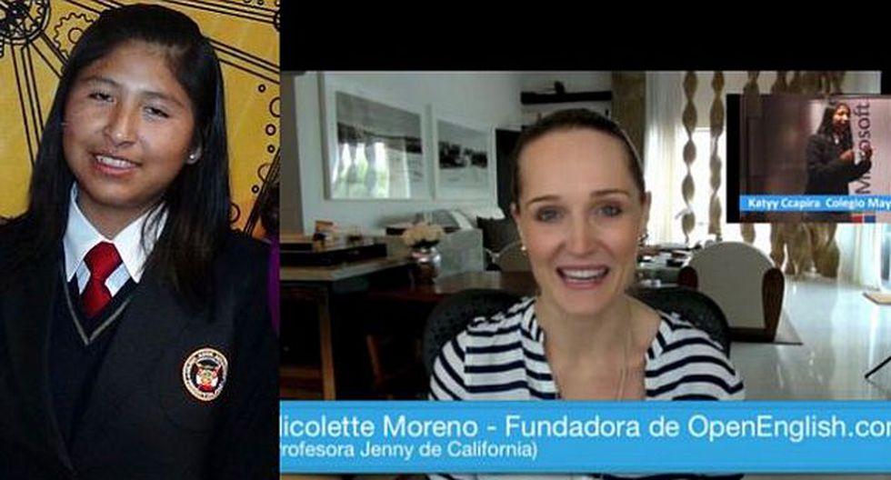 Lizz Katyy Ccapira recibió una beca integral en Open English. (Internet)