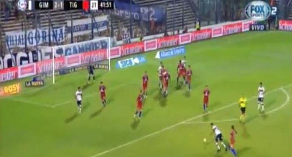 El volante peruano marcó en el encuentro entre Gimnasia y Esgrima La Plata vs. Tigre.