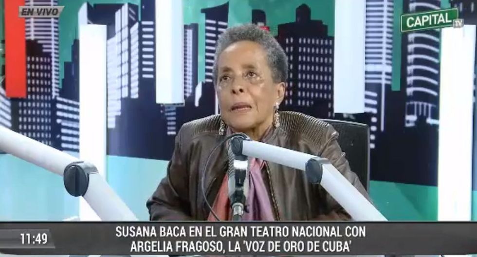 La cantante rompió el llanto al hablar de la corrupción en el país. (Foto: Captura de Capital TV)