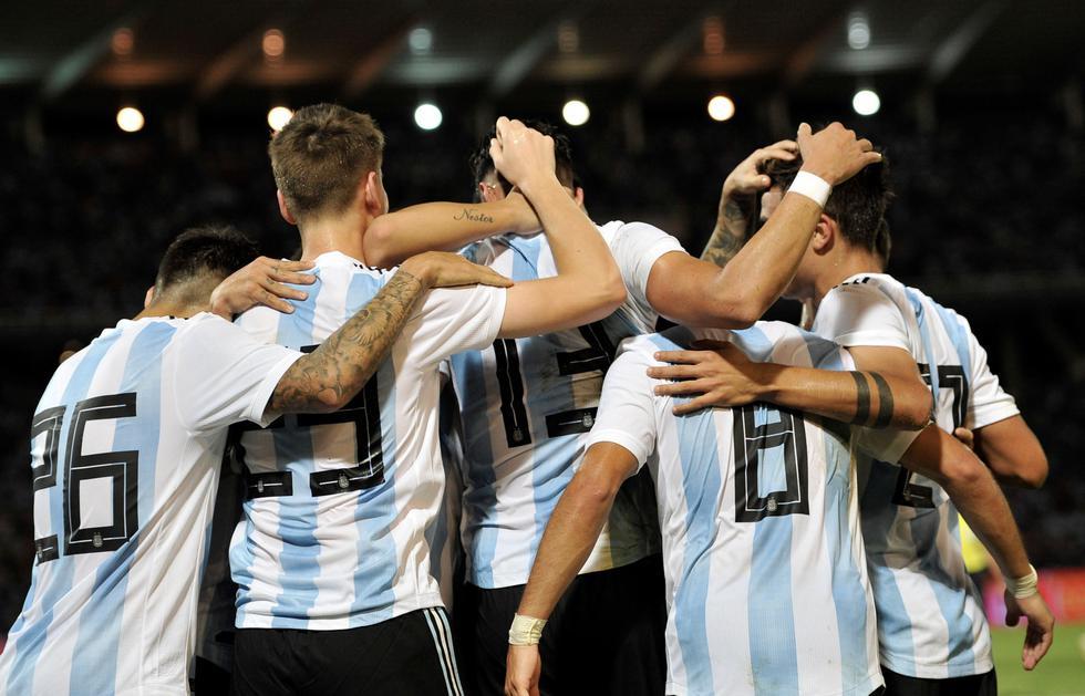 Argentina ganó 2-0 a México en partido amistoso en Córdoba. (AFP)