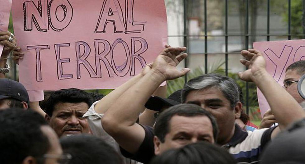 Protestas contra inscripción del Movadef. (Alberto Orbegoso)