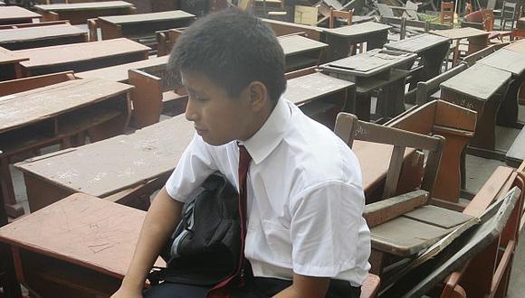 Alumnos de varias regiones han perdido más de un mes de clases. (Perú21)