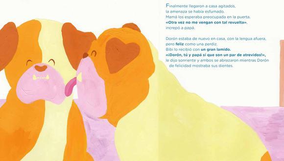 La autora Zhenna Luque se inspiró en sus mascotas para crear esta historia sobre el amor familiar y la nueva vida en medio del encierro. (Ilustración: Jimena Laguna)