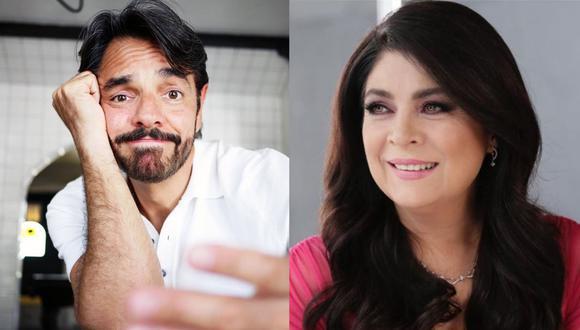 Eugenio Derbez comparte foto donde aparece Victoria Ruffo y esta vez no la recortó. (Foto: Instagram)