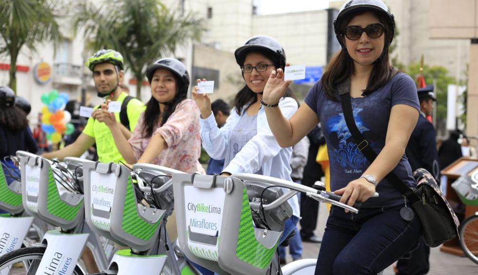 Bicicletas como transporte público en San Isidro Y Miraflores (Foto: GEC)