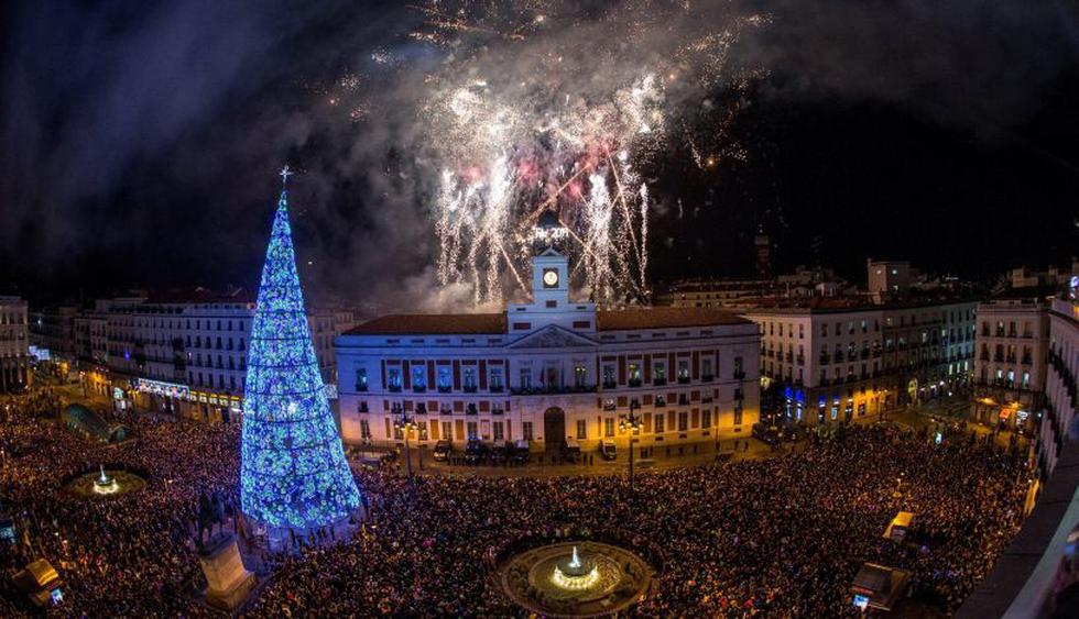 Madrid recibió así el Año Nuevo 2019. (Foto: EFE).