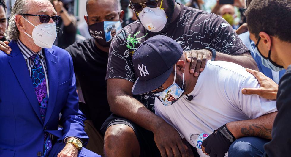 El homenaje al afroestadounidense en su ciudad de acogida estará a cargo del activista por los derechos civiles Al Sharpton. En la imagen aparece el hermano de George Floyd, Terrence. (AFP/Ferem Yucel).