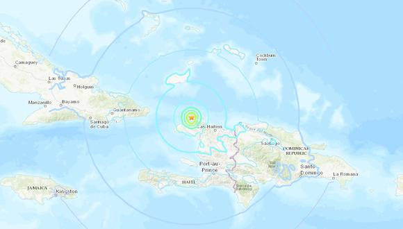 El epicentro del sismo se registró en el norte de Haití a 20 kilómetros de Port-de-Paix. (Foto: USGS)